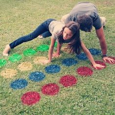 I never thought about painting a Twister Board...this has to beat the mat that keeps moving when you move!