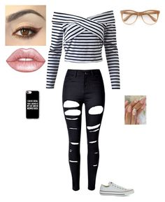 """""""fall outfit"""" by kendallmacdonell on Polyvore featuring WithChic, Converse, Casetify, Wildfox and Lime Crime"""