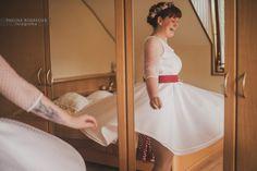 Svatební šaty  z dílny Moniky Srovnalové