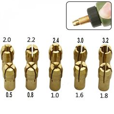 Three-jaw Copper Drill Chuck Collet Clip Bit Set, free shipping option to most countries worldwide. For best shopping experience visit us, trainedtools.com Carpenter Tools, Gold Material, Drill, Copper, Countries, Free Shipping, Money, Shopping, Hole Punch