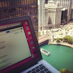 "@mjtam's photo: ""My beautiful #Chicago view. Working from @HyattChicago discussing #bbsummit12  @socialrevup"""