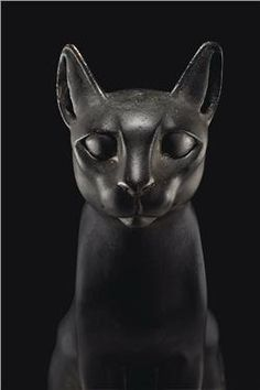 Egyptian bronze cat from the Ptolemaic Period, 304-30 B.C.