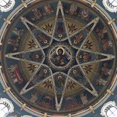 Fresco, Decorative Wall Panels, Church Interior, Orthodox Icons, Mural Painting, Sacred Geometry, Art Forms, Spirituality, Wall Decor