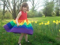 Girls Rainbow Party Dress Sizes 2t 3t 4t 5t and 6 by mapletree2000