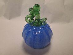 Mouth+Blown+DUTCH+BLUE+Art+Glass+Pumpkin++Hand+by+GalleryBelleau