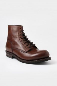 Buttero Combat Leather Boots Brown