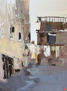Laundry Day by Sandra Pratt Oil ~ 28 x 22