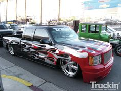 2011 Chevrolet / GMC Red Custom Truck...