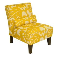 Yellow patterned chair....i want this for the room...it is from target....online only