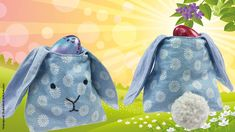 Looking for a last minute Easter present? Then sew this sweet Easter bunny basket and fill it with painted eggs or chocolate! sew einfach clothes crafts for beginners ideas projects room Sewing Machine Projects, Sewing Projects For Beginners, Sewing Tutorials, Sewing Tips, Tutorial Sewing, Sewing Kids Clothes, Sewing For Kids, Free Sewing, Clothes Patterns