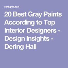 20 Best Gray Paints According to Top Interior Designers - Design Insights - Dering Hall Best Gray Paint, Best Paint Colors, Interior Paint Colors, Grey Paint, Wall Colors, Pallet Painting, Painting Tips, House Painting, Elephants Breath