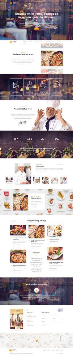 Eureka – Multipurpose PSD Template #web design #parallax #food • Download ➝ https://themeforest.net/item/eureka-multipurpose-psd-template/9068826?ref=pxcr