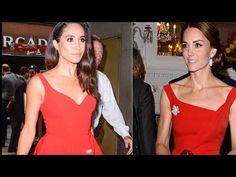 Kate and Meghan  Markle: their first  public appearances  with their Pri...
