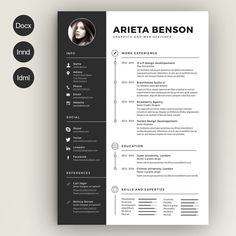 Clean Cv-Resume by Estartshop on Creative Market                                                                                                                                                                                 More