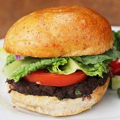 Black bean and roasted red pebber veggie burger