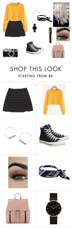"""school outfit"" by annexx00 ❤ liked on Polyvore featuring Converse, CLUSE, Retrò, NARS Cosmetics, school, retro and camera"
