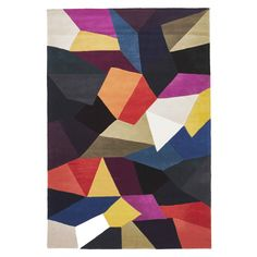 Stuttgart Abstract Stained Glass Wool Rug