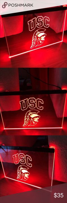 55bacc8435b79 USC TROJANS LED NEON LIGHT SIGN 8x12 USC TROJANS LED Neon Sign - 3D  Engraving -
