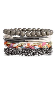 Stephan & Co. Mixed Media Bracelets (Set of 4) $16