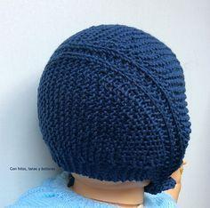 Con hilos, lanas y botones: DIY cómo hacer una capota a punto bobo para bebé paso a paso (patrón gratis) Knitting Kits, Baby Knitting, Knit Crochet, Crochet Hats, Twin Babies, Knitted Hats, Baby Kids, Winter Hats, Beanie