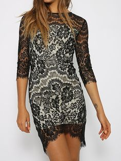 Sexy Black Lace Party Dress #Sexy #Black #Lace #Party_Dress #LBD #Fashion