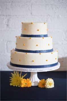 Navy and yellow wedding that breaks free from tradition. #weddingchicks http://www.weddingchicks.com/2014/07/21/modern-navy-and-yellow-wedding/