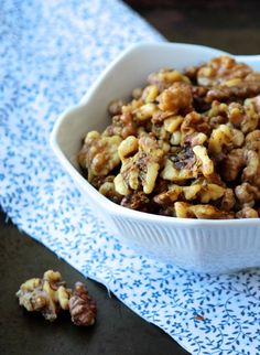 Honey Rosemary Roasted Walnuts, SB - did these with almonds instead of walnuts just for fun, tasted amazing! Could use any kind of nut really...