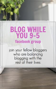 Join bloggers just like YOU - the people who aren't blogging full time, but are juggling blogging along with their full time job or other full time commitments. Full time isn't for everyone and this group is for like-minded bloggers. Free Facebook group open to everyone!