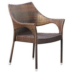Home Loft Concepts Norm Outdoor Wicker Arm Chair & Reviews | Wayfair