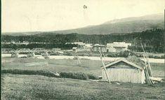 Hedmark fylke Os kommune i Østerdalen. Bro og bebyggelsen på litt avstand. Stemplet 1907