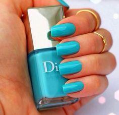 30 Fashionable Nail Art Design Spring – Summer 2014. Turquoise nails. Dior. Nail Art. Nail Design. Polish. Manicure.