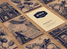 Gambar Contoh Desain Kartu Nama - Grave by Valquiria Rabelo Examples Of Business Cards, Elegant Business Cards, Cool Business Cards, Creative Business, Brand Identity Design, Corporate Design, Branding Design, Branding Iron, Identity Branding