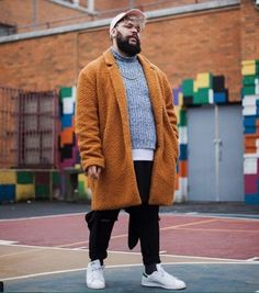 45 Tested Fashion Outfits for Heavy Men - Machovibes Outfits For Big Men, Style Ideas, Fashion Outfits, Stitch, Guys, Sweaters, Clothes, Men's, Chubby Fashion