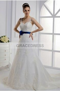 Buy A-line Court Train Straps Lace A line Wedding Dresses A0137 With Quality Guarantee, 7 Days Return Polciy And Free Shipping to UK.