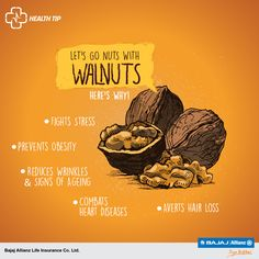 The oldest known tree-fruit is also the latest health-trend! Crack open a plethora of health benefits with each walnut. #HealthTips