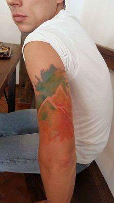Leaf Tattoos, Watercolor Tattoo, Temp Tattoo