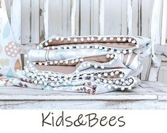 For unique babies-baby blankets, baby bedding. by KidsandBeesBaby Baby Bedding, Unique Baby, Textile Design, Nursery, Blanket, Trending Outfits, Unique Jewelry, Handmade Gifts, Fabric