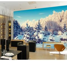 ==> [Free Shipping] Buy Best Custom 3D stereo large mural winter snow non-woven 3D wallpaper bedroom sofa TV background wall 3D wallpaper Online with LOWEST Price | 32750732306