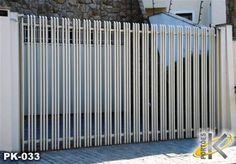 SERRALHEIRA ESTRUTURAL: Modelos de portões aberto House Gate Design, Door Gate Design, Gate House, Railing Design, Modern Main Gate Designs, Modern Fence Design, Modern House Design, Front Gates, Entrance Gates