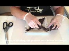This video shows you how to use Powertex Fabric hardener to create a fabric platter... Powertex Australia - YouTube