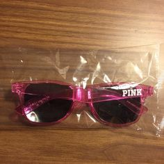 Brand New VS Pink Sunglasses NO OFFERS Brand new and still in the plastic wrapping. Plastic pink sunglasses with UV eye protection. I am selling this for less than $10, please no offers. NO TRADES PINK Victoria's Secret Accessories Sunglasses