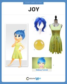 Dress Like Joy from the hit Disney movie, Inside Out. See additional costumes and cosplays of Joy.