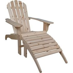 Cedar Adirondack Chair with Ottoman, zPatioFurniture.com