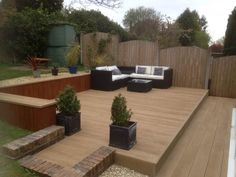 Millboard decking in smoked oak millboard decking