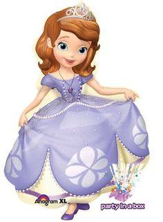 globo jumbo princesita sofía 1.20 mts. adorna tu fiesta.