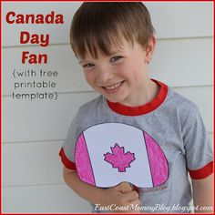Canada Day Fan {with free printable template}