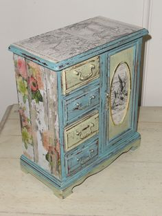 Jewelry Armoire Shabby Chic Jewelry Box Music Box Pink Gold