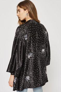 Star Embroidered Kimono