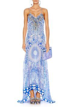 CAMILLA THE BOSPHOROUS PANELLED LONG DRESS W/ TRAIN $699