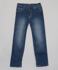 This True Blue Wash Distressed Jeans - Infant by French Toast is perfect! #zulilyfinds 7.99 12m